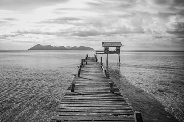 pier on the beach