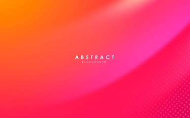 Abstract modern background gradient color. Yellow and pink gradient with halftone decoration.