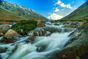 mountain river in the mountains Wall mural