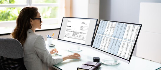 Medical Account Manager Using Electronic Bill - fototapety na wymiar