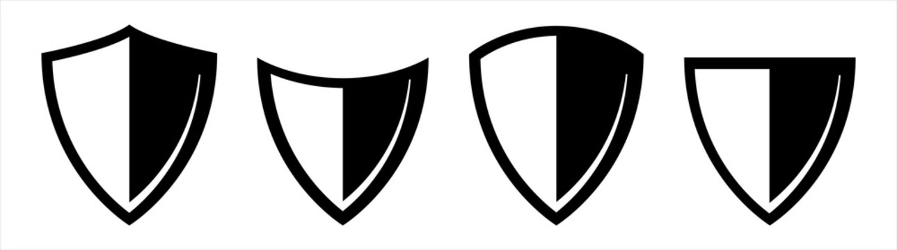Set of shield isolated on white background. vector illustration.
