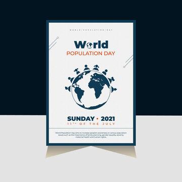 Stunning World Population Day Flyer, Poster Design Template