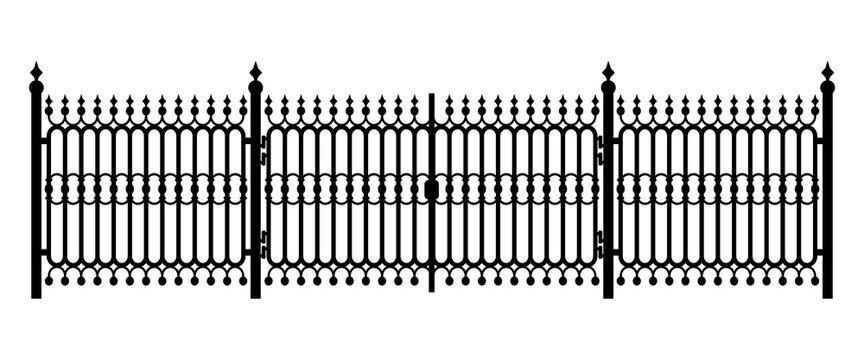 Wrought iron fence, vector illustration design