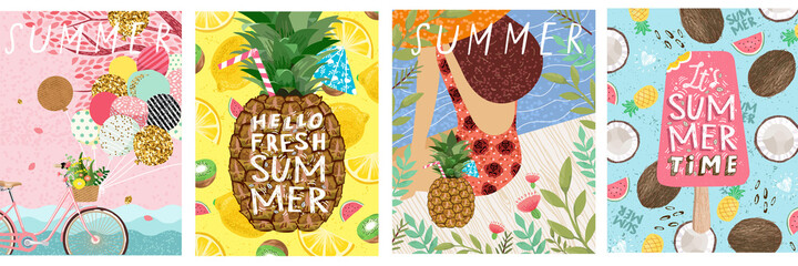 Obraz Summer banner and poster - fototapety do salonu