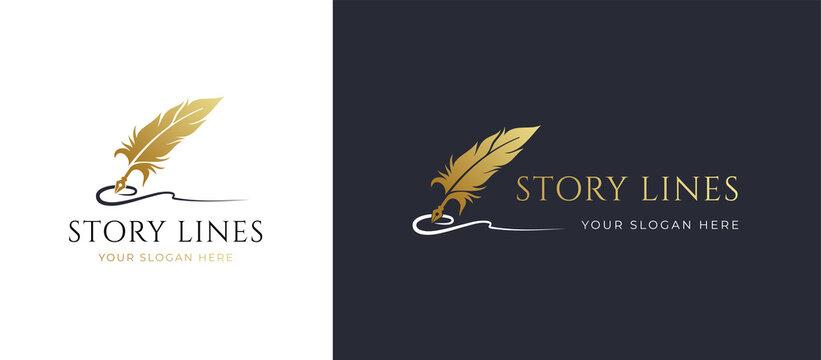 quill signature line logo design