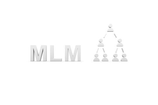 MLM concept white background 3d render illustration