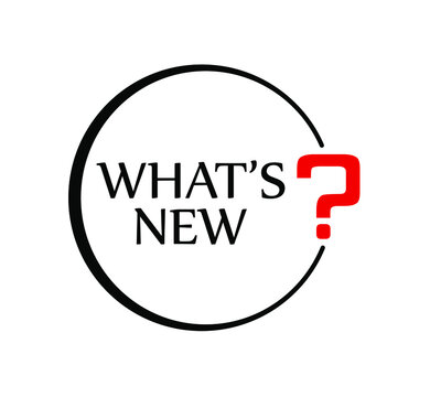 what's new sign on white background