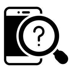 mobile solid glyph icon - fototapety na wymiar