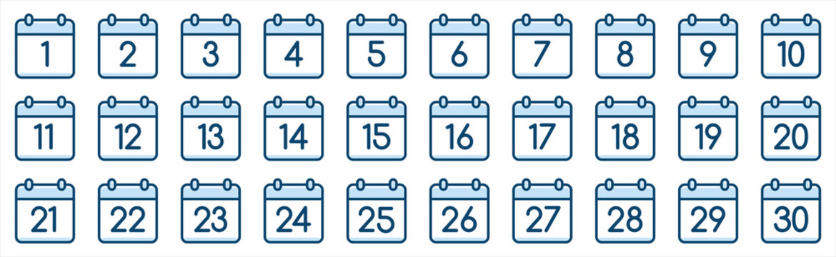 Set of calendar symbols. Calendar Icon collection.. Meeting Deadlines icon. Time management, Appointment schedule flat icon. Vector illustration on a white background.