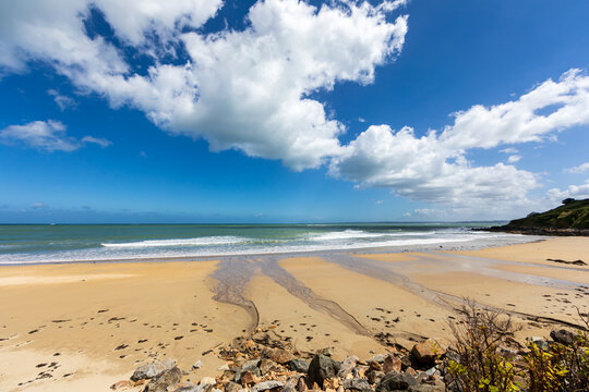 Beach of Locquirec, Finistere, Brittany, France