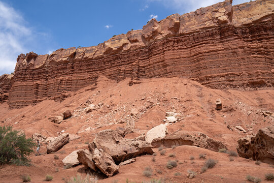 Red rock scenery in Capitol Reef National Park