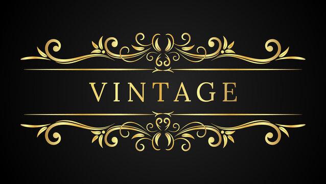 Luxury Vintage Frame Classic