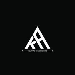 Obraz  K A letter logo creative design. ka unique design - fototapety do salonu
