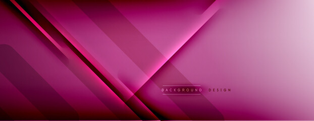 Obraz Abstract background - lines composition created with lights and shadows. Technology or business digital template. Trendy simple fluid color gradient abstract background with dynamic - fototapety do salonu