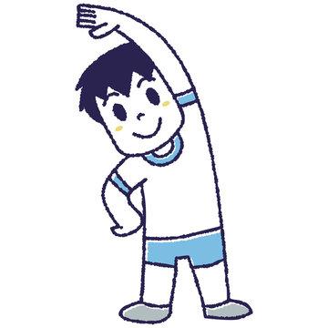 体操をする男の子
