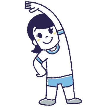 体操をする女の子