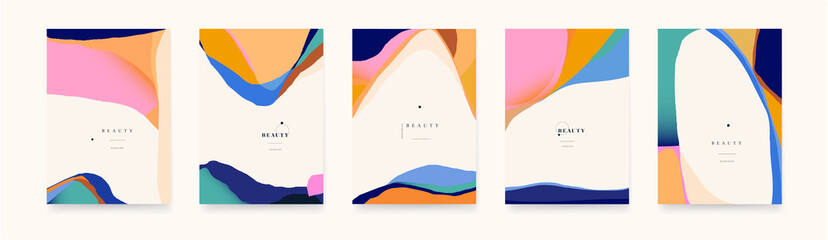 Obraz Trendy abstract geometric backgrounds. Cute modern templates for your design. - fototapety do salonu