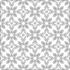 Vector geometric pattern. Repeating elements stylish background abstract ornament for wallpapers and backgrounds. pattern with Black and white color.