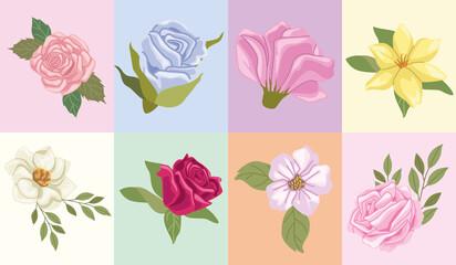 eight garden icons