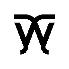 Fototapeta YWY letter logo design vector obraz