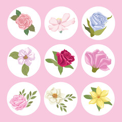 nine garden icons