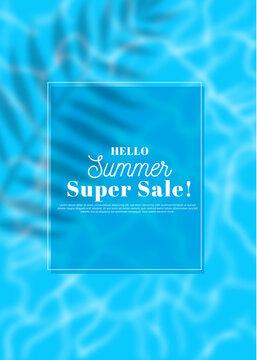 푸른풀장과 여름 시즌 판매 배경