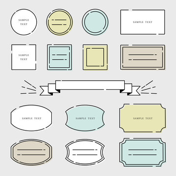 シンプル 線画フレーム イラスト素材 / vector eps
