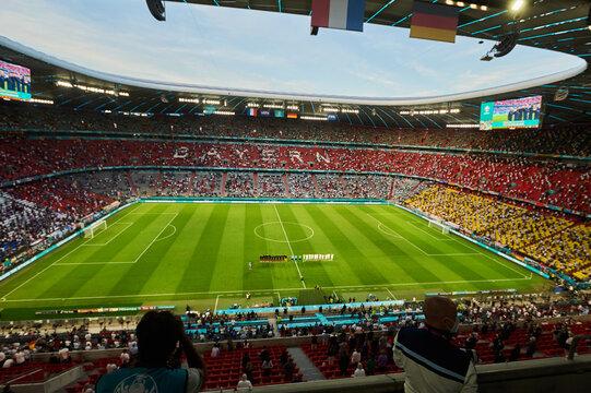 EURO 2020. The football match France vs Germany