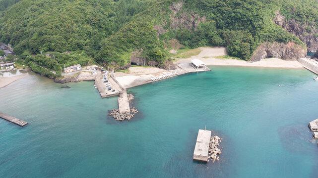 浦島漁港の海 京都 ドローン空撮
