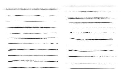 Obraz Set Artistic Pen Brushes Doodles Ink Brushes - fototapety do salonu