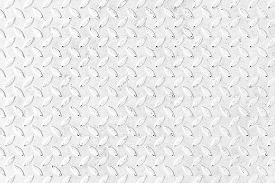 White Diamond Steel Plate Floor pattern and seamless background