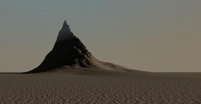 Panorama view of mountain terrain , 3d render