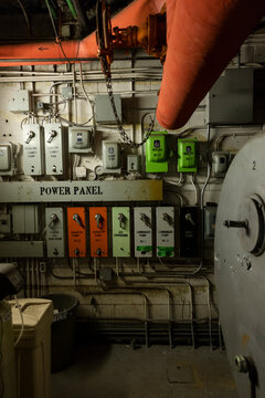 Electrical control room of outdated building