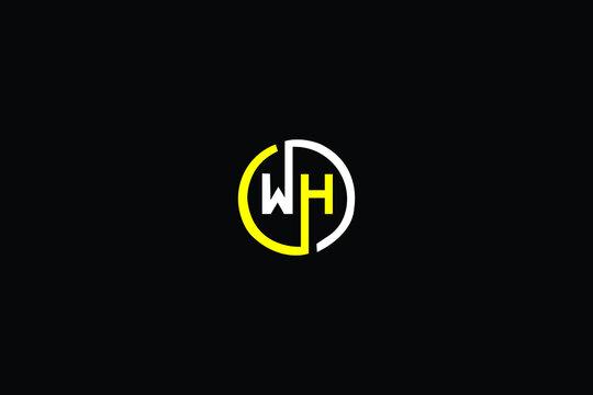 WH Letter Logo Design. Creative Modern W H Letters icon vector Illustration.