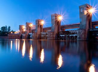 Obraz Tama i elektrownia wodna  - fototapety do salonu
