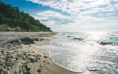 Obraz Plaża w Polsce nad Morzem Bałtyckim - fototapety do salonu