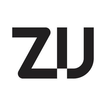 zu initial letter vector logo
