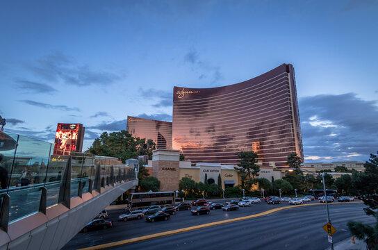 Wynn Hotel and Casino at sunset - Las Vegas, Nevada, USA