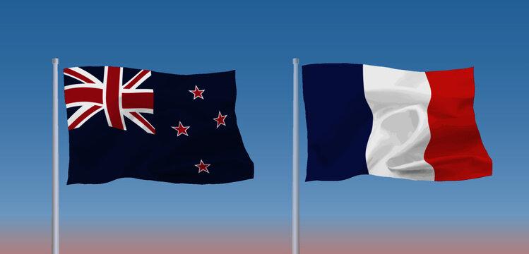 フランスとニュージーランドの国旗