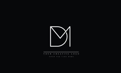 Fototapeta Alphabet letters Initials Monogram logo MD DM M D obraz