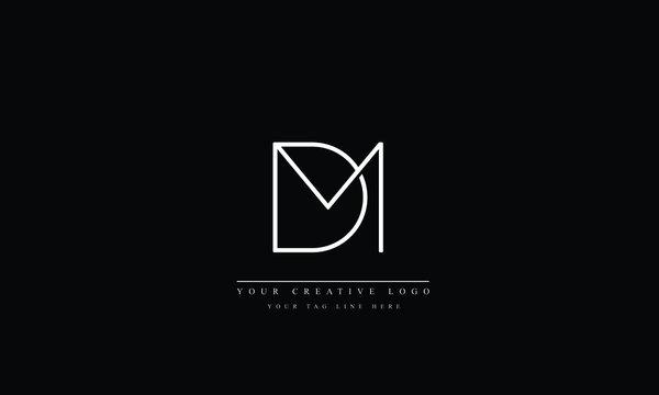 Alphabet letters Initials Monogram logo MD DM M D