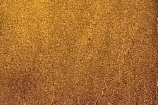 紙テクスチャー背景(茶色) 細かいシワのある古い赤茶色の紙
