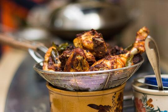 Close Up Ayam Goreng Rempah