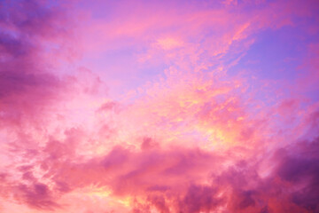sun set cloud in evening, abstract background.