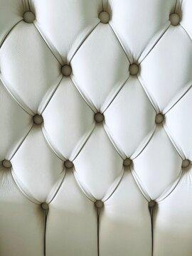 Full Frame Shot Of White Sofa