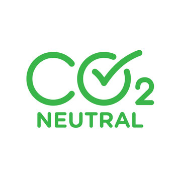 CO2 carbon emissions vector concept icon badge