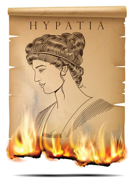 Hypatia and burning paper