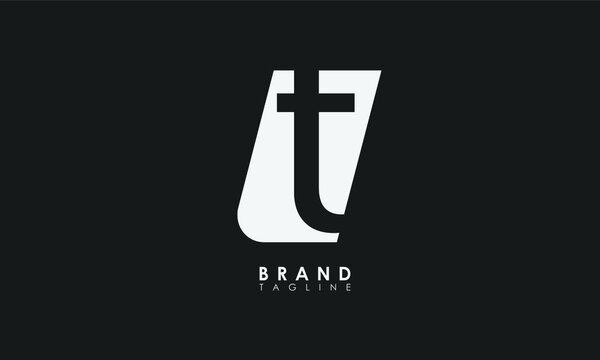 Alphabet letters Initials Monogram logo TL, LT, T and L