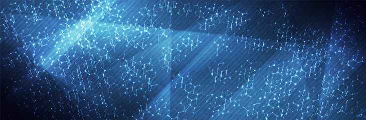 Futuristic Hexagon background. Blue Hexagonal pattern. Modern vector illustration