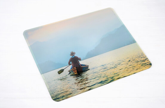 Mousepad of personal design with beautiful photo